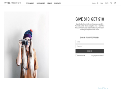 Eyebuydirect GET $10 through my referral link on your First purchase