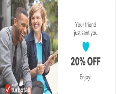 20% off Turbo Tax federal tax filling fees