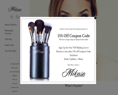 25% off your purchase at Mikasa Beauty
