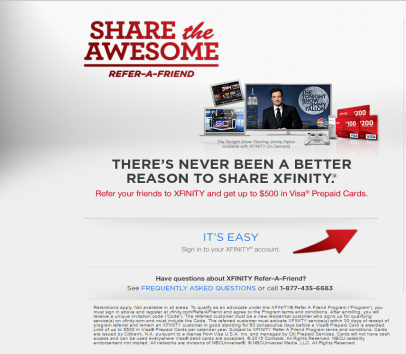 Xfinity Comcast Refer a Friend Program - Get up to a $100