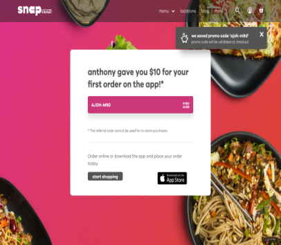 Get $10 off your first order on Snap Kitchen