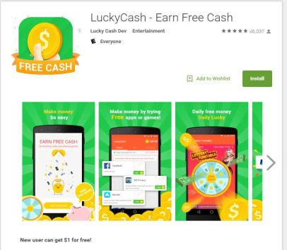 Earn Free Cash With LuckyCash! Use this link for coons worth 1$.