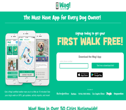 Wag Walking Recommend a Friend - $20 Wag! Dog Walking Credit