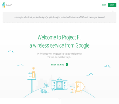 20$ off Mobile plan on Google's Project Fi