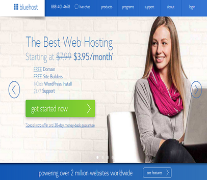 Spend $4-20 on Bluehost to Receive an Impressive $65 Affiliate Bonus
