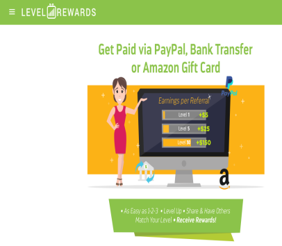 Get $5 per referral Every time  you exceed a level you get $5.00