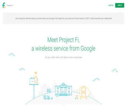 Get $20 Credit by signing up with Google Project Fi Phone Service