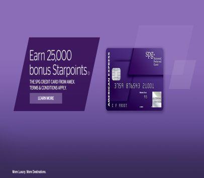 Earn 25000 Starpoints on Amex SPG card!