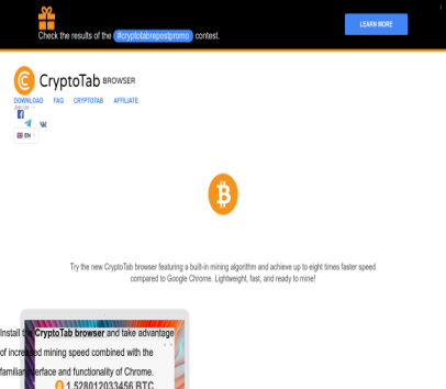 Mines bitcoin while you browse