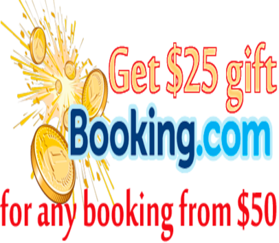 Get Great $25 credit for any booking more $50 via Booking.com!