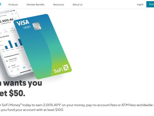 $50 free when approved, open and  deposit $100 in SOFI new Account