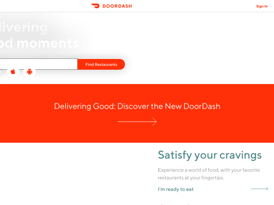 Get 7$ offyour first doordash order!
