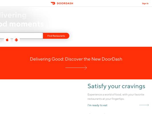 Get 7$ offyour first doordash order!