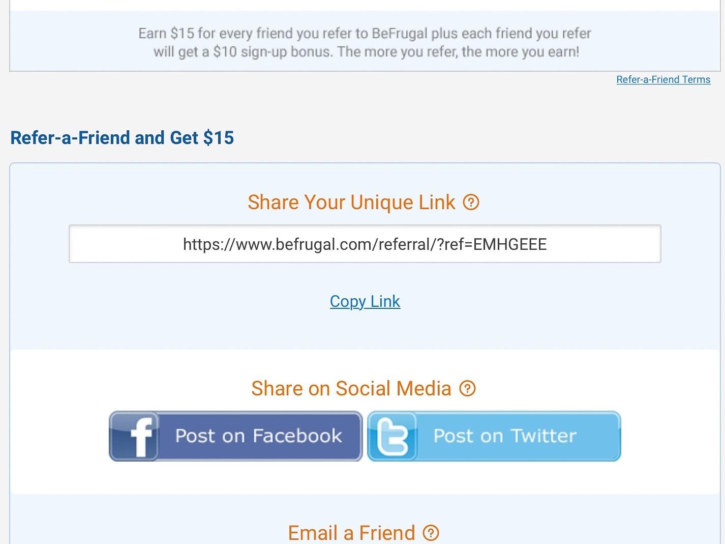 $10 Signup Bonus for BeFrugal