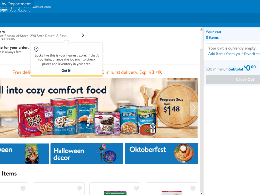 Enjoy $10 off your first order from Walmart Grocery.