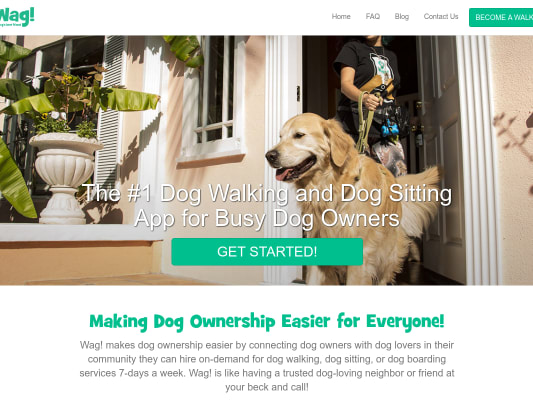 Get $20 off your first walk with Wag!