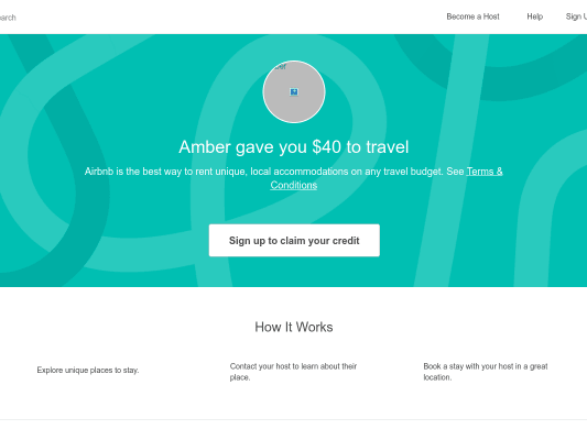 Airbnb - Get $40 Airbnb Credit when you signup using my referral