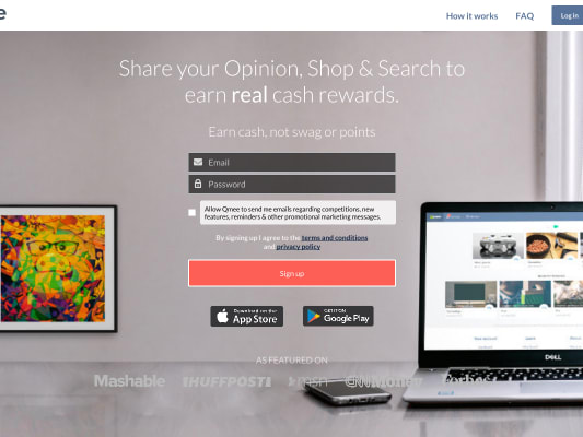 Sign up to Qmee with my referral link and earn $0.50