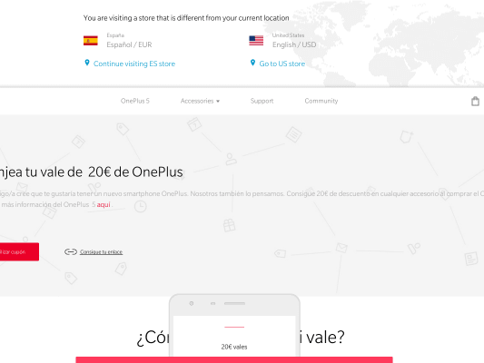 Get 20$ for accesories when buying oneplus 5