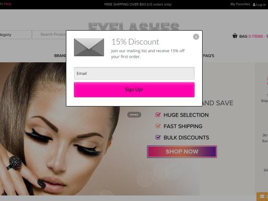 Get 15% False Eyelashes