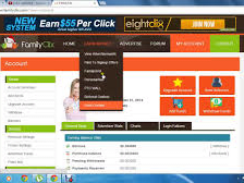 Get $0.01 Per Click and get $0.2 if you refer your friend on Family Clix
