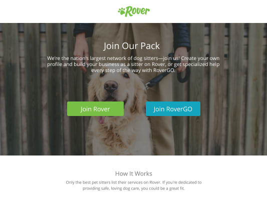 Earn a $50 Amazon.com Gift Card* for becoming a Rover pet sitter!