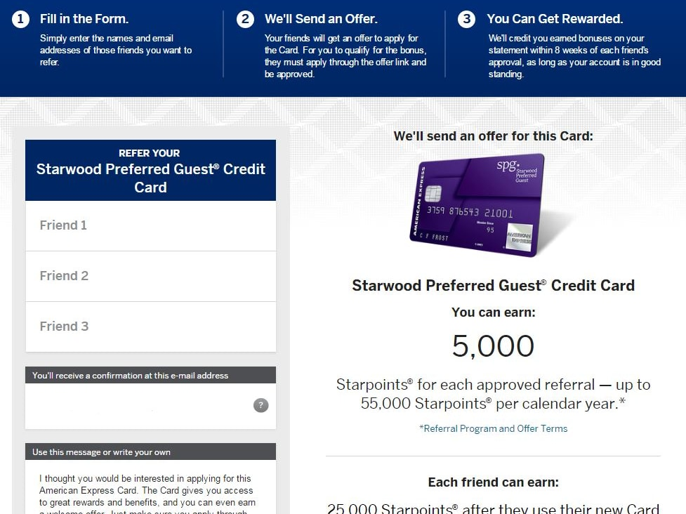 Get 25,000 Starpoints (SPG) using my referral link