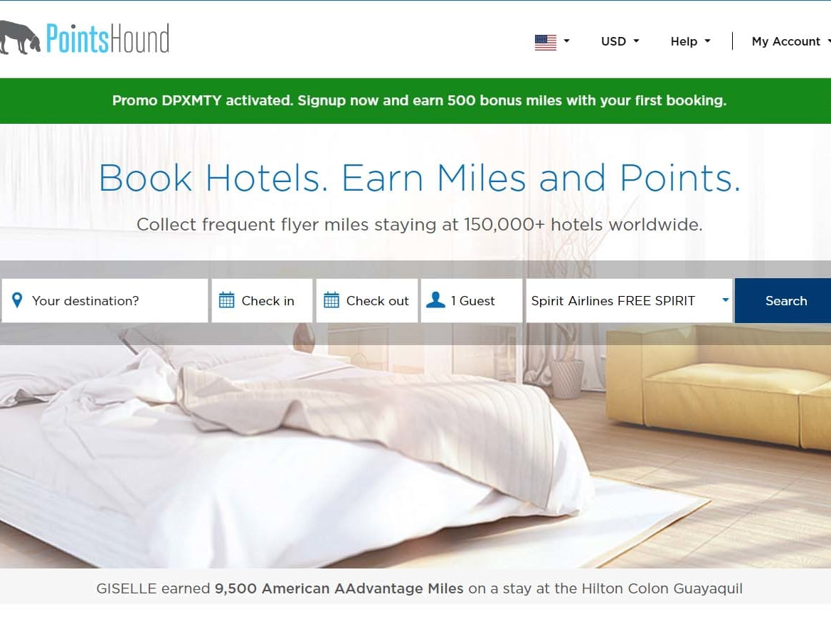Signup now and earn 500 bonus miles with your first booking.