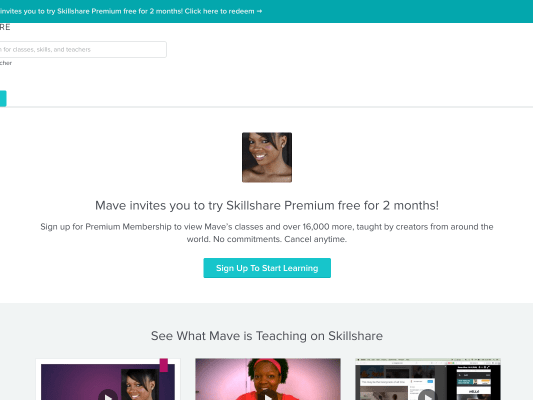 Free 2 Month Skillshare Trial!!!