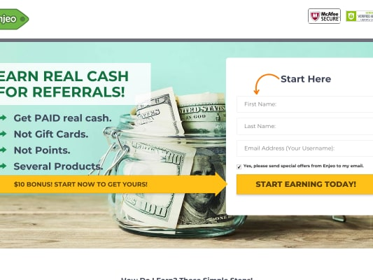 $21.15 for joining! $10 per referral!