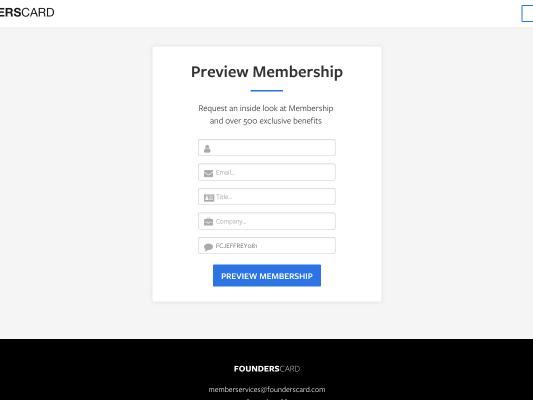 Founders Card Membership