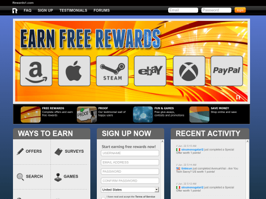 Easiest and Best Rewards Site.