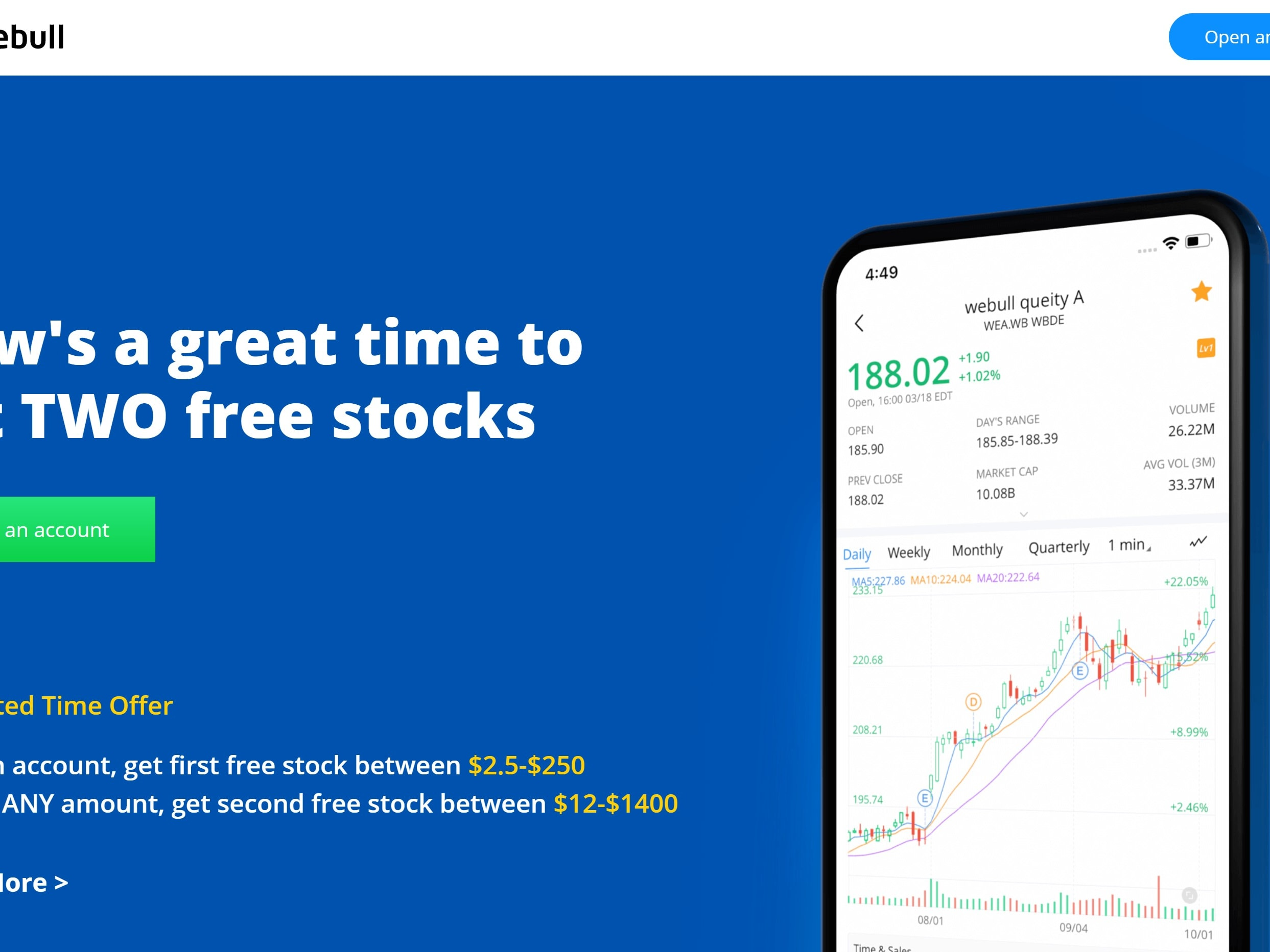 Earn 4 free shares on webull