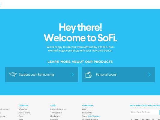 Get $100 bonus on refinancing student loans with SoFi