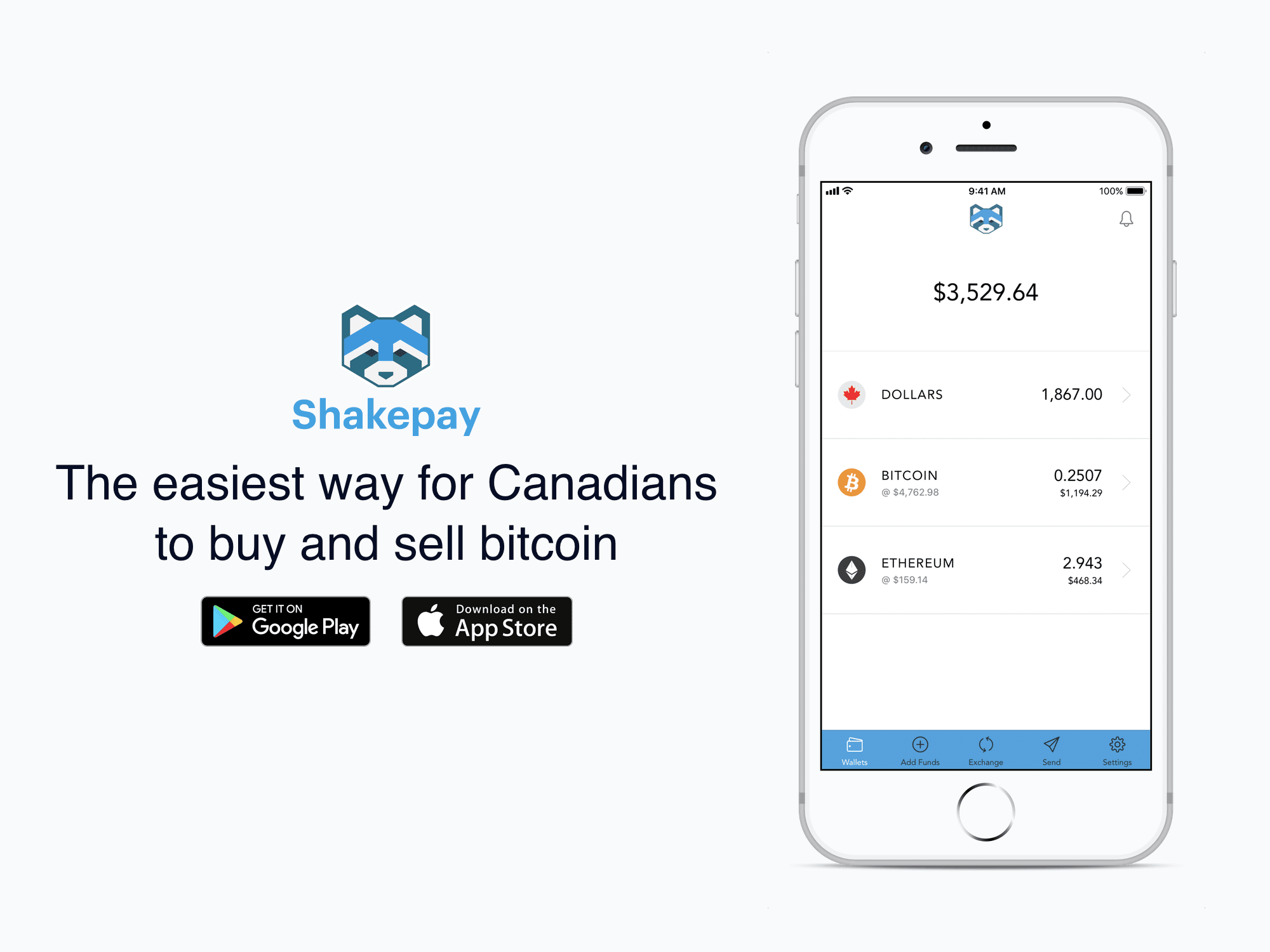 Get 10$ when you sign up to Shakepay and load 100$ into your account via Interac e-transfer.