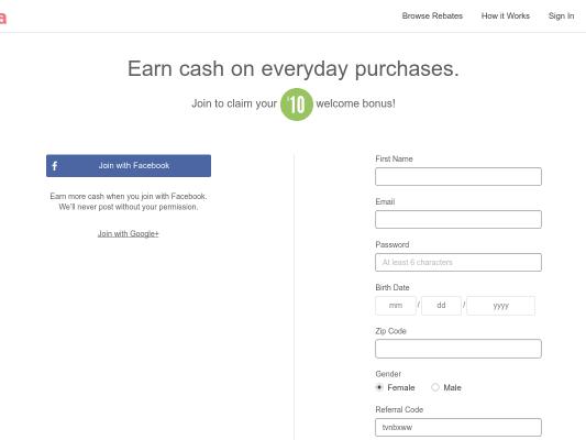 Bonus $10 when you sign up for Ibotta