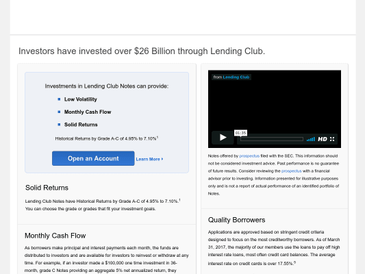 Get $75 when signup with Lending club