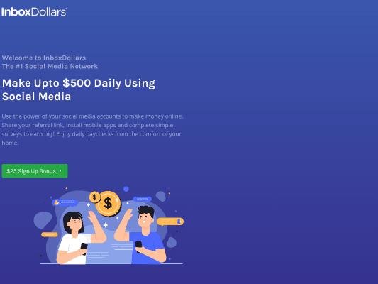 Social media earning network (inboxdollars) $25 sign up bonus
