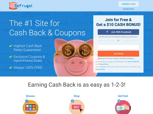 BeFrugal Referral link - You get 10.00 after first purchase
