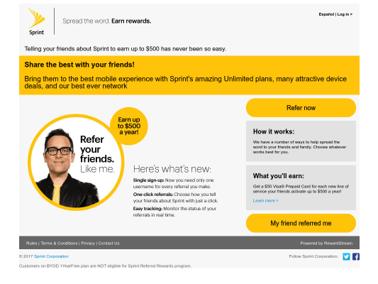 Get $50 via Visa Prepaid Card through my referral link