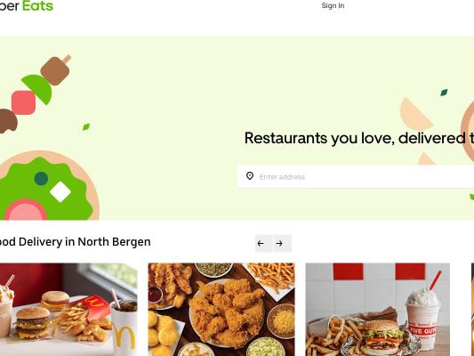 Get $7 off your first order through Uber Eats app