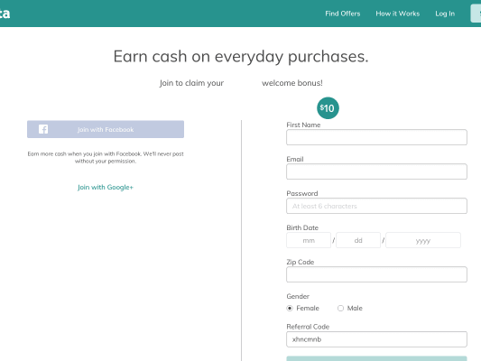 Sign up for ibotta and get cash back on everyday purchases