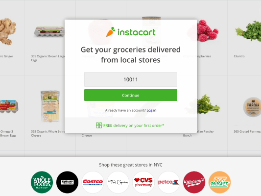 Up to $50 off On Instacart