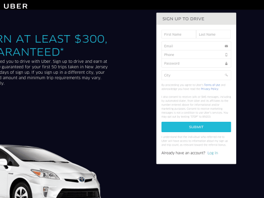 300 $ Uber referral for the new driver