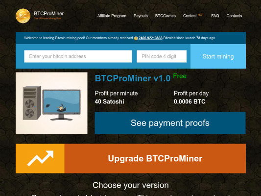 Get 0.0006 btc - 1,7$ per day by signing up with my referral link