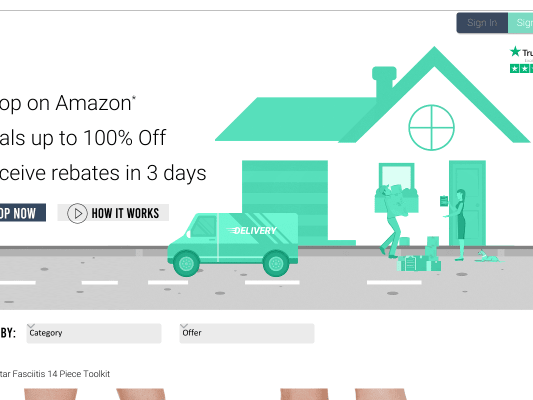 Get up to 100% Cash Back on hundreds of Amazon.com products