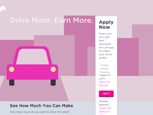 $50 Bonus with Lyft Driver Sign Up