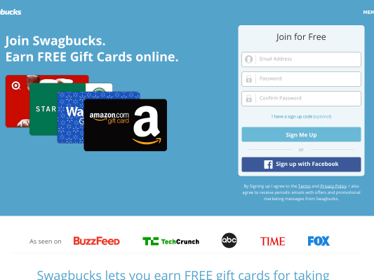 Earn $5 for using my referral link with Swagbucks!