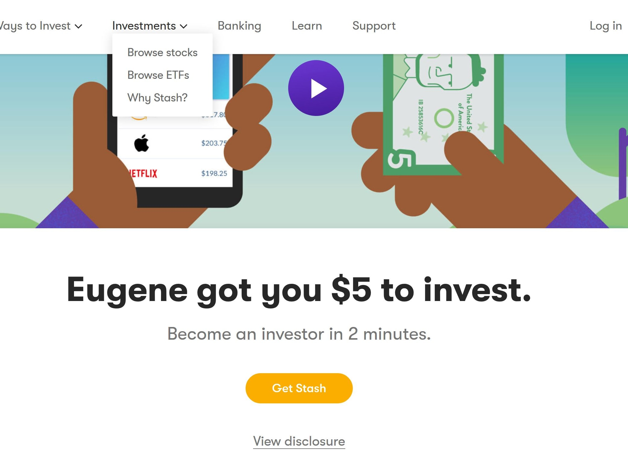Get $5  to invest using my link