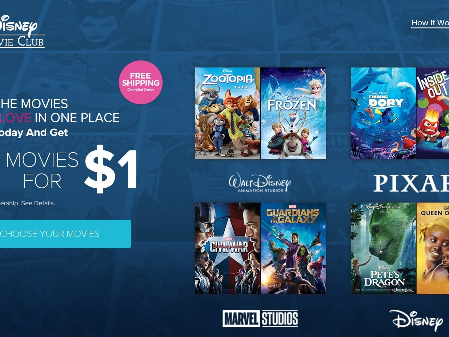 Get 5 Disney, Marvel, or Star Wars Blu-Rays or DVD